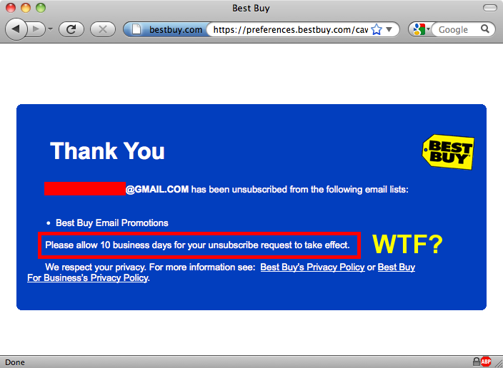 best buy unsubscribe