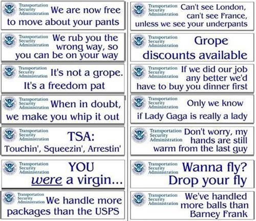 tsa bumper stickers