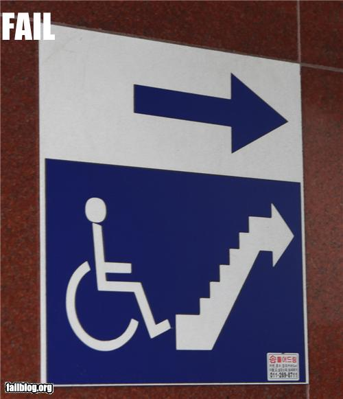 epic fail photos - CLASSIC: Wheelchair Access FAIL
