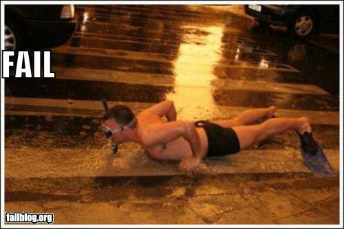 epic fail photos - Urban Snorkeling FAIL