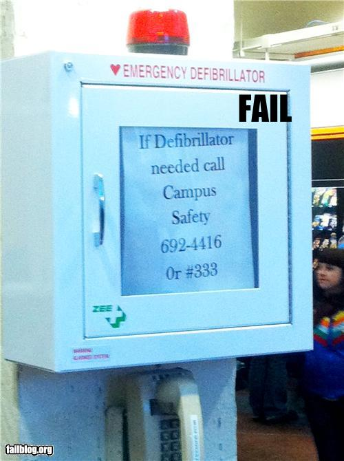 epic fail photos - Defibrillator FAIL