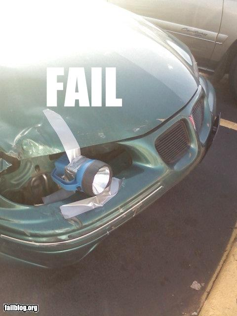 epic fail photos - Headlight Fail