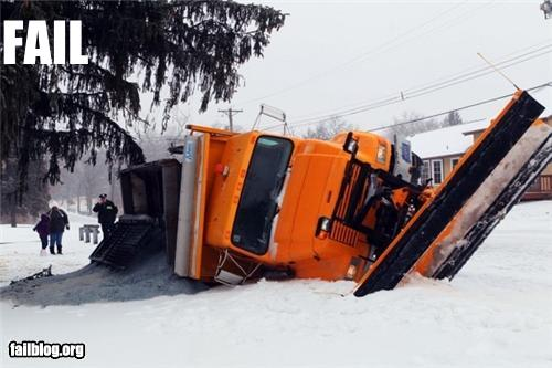 epic fail photos - Snow Plow FAIL