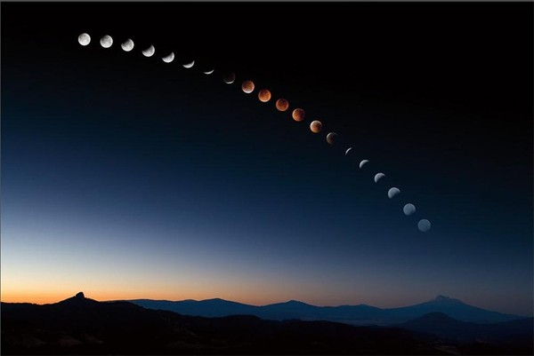 Lunar Eclipse Time Lapse
