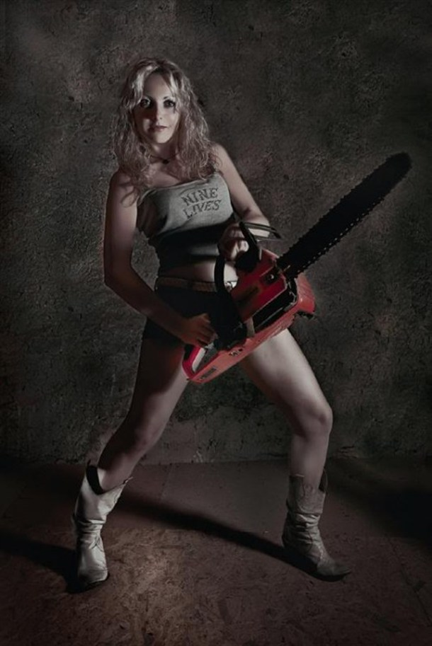 Chainsaw Chick With Nine Lives