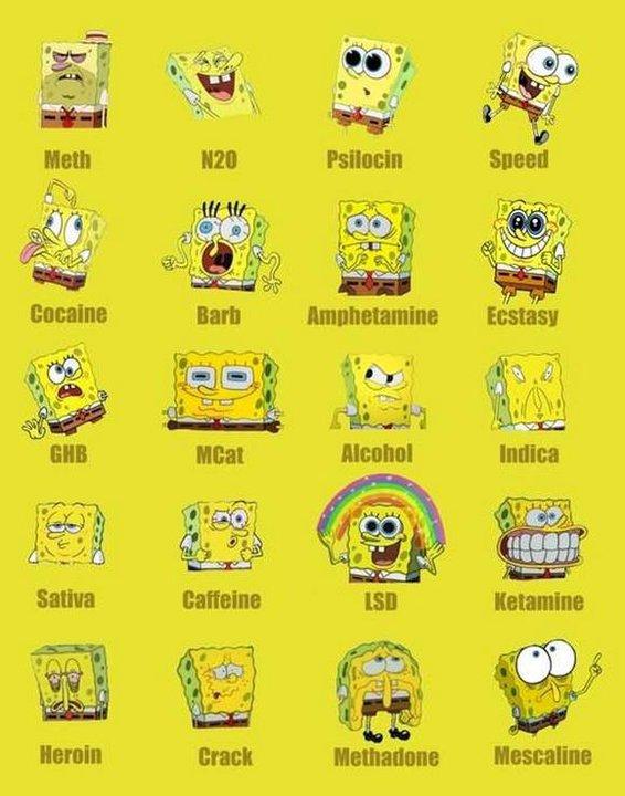Spongebob on Different Drugs