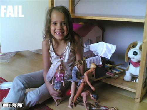 Things That Are Doing It: Playing with dolls