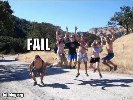 epic fail photos - Jumping FAIL