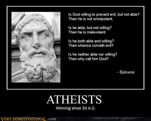 demotivational posters - ATHEISTS