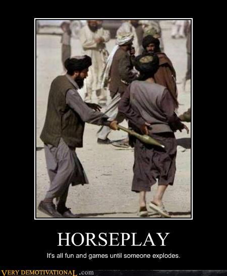 demotivational posters - HORSEPLAY