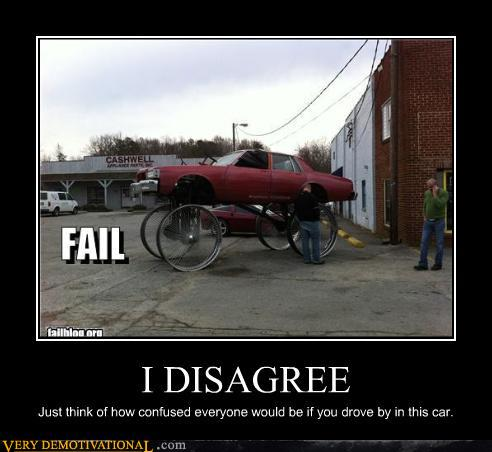 demotivational posters - I DISAGREE