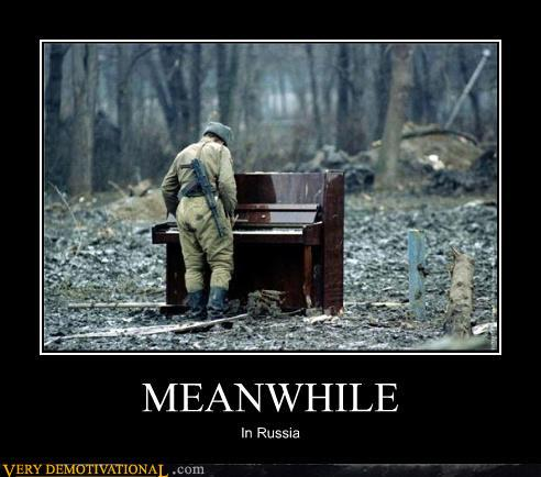 demotivational posters - MEANWHILE