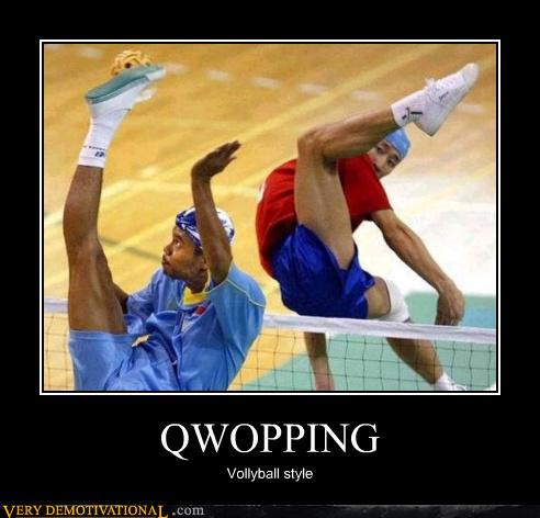demotivational posters - QWOPPING