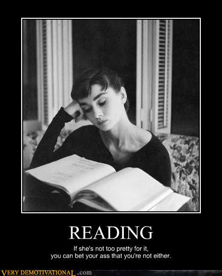 demotivational posters - READING