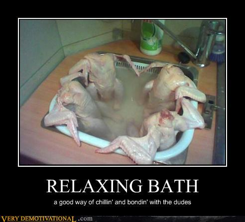 demotivational posters - RELAXING BATH