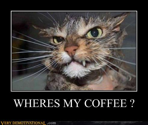 demotivational posters - WHERES MY COFFEE ?