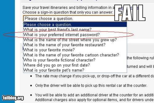 epic fail photos - Security Question FAIL
