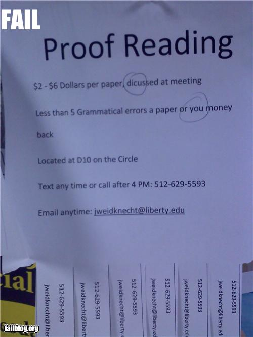 epic fail photos - Proofreading Services FAIL