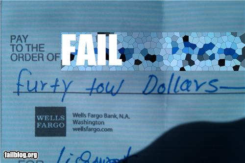 epic fail photos - Writing a Check FAIL