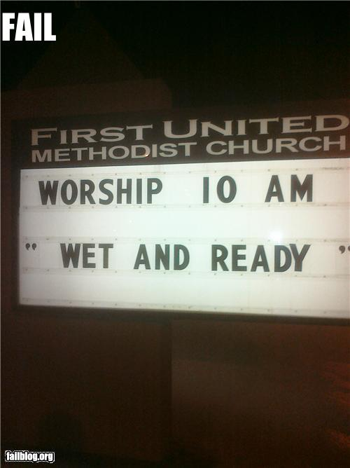 epic fail photos - CLASSIC: Church Sign FAIL