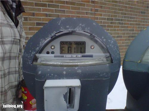 epic fail photos - CLASSIC: Parking Meter FAIL