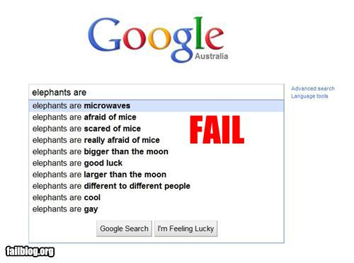 epic fail photos - Autocomplete Me: Elephants Are...