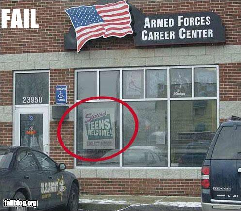 epic fail photos - CLASSIC: Recruitment FAIL