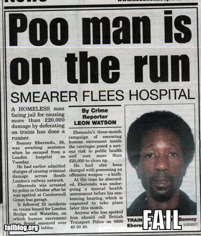epic fail photos - Probably Bad News: He's On the RUN!