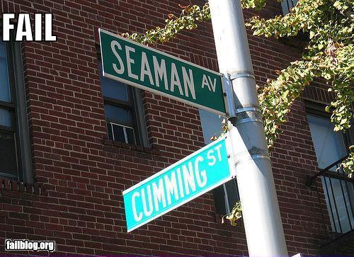 epic fail photos - Things That Are Doing It: Street Names FAIL