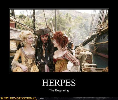 Demotivational posters herpes
