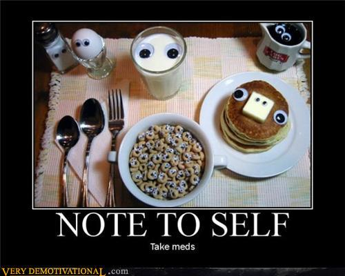 demotivational posters - NOTE TO SELF