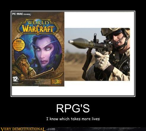 demotivational posters - RPG'S