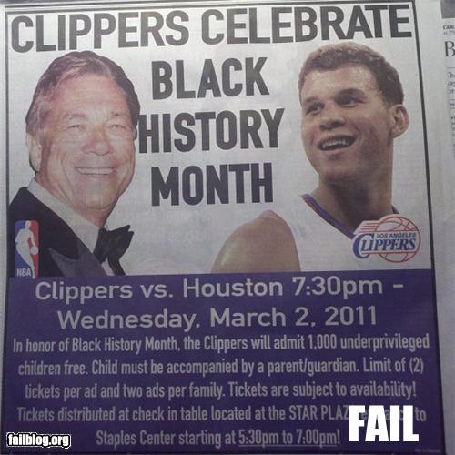 epic fail photos - Black History Month Fail