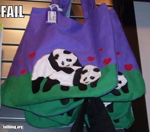 epic fail photos - Panda Bag