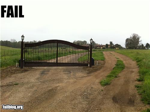 epic fail photos - Gate FAIL