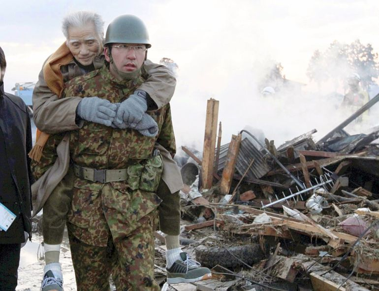 Hero In Japan After The Earthquake