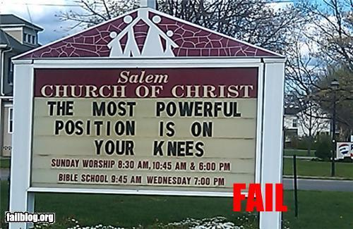 Prayer Position FAIL