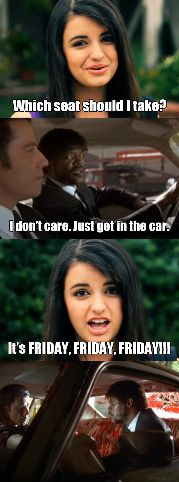 Rebecca Black vs. Pulp Fiction