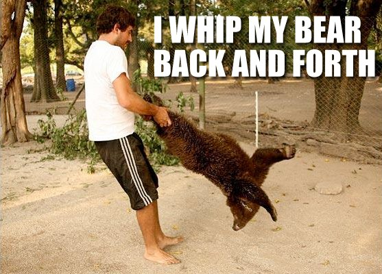 I Whip My Bear Back And Forth