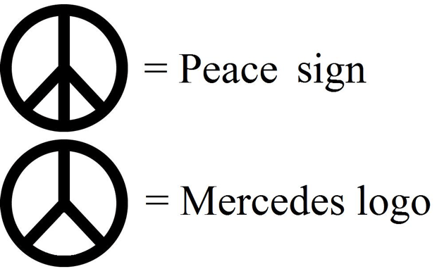 Peace Sign Looks A Lot Like Mercedes Logo Funny Pictures Quotes