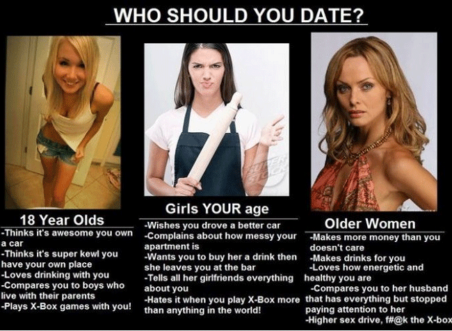 dating younger men funny