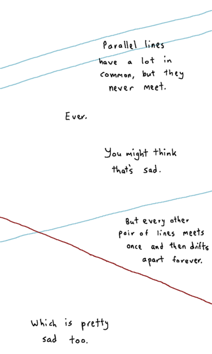 I'd rather be a parallel line...