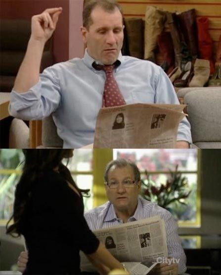Ed O'Neill has been reading the same newspaper for 20 years.