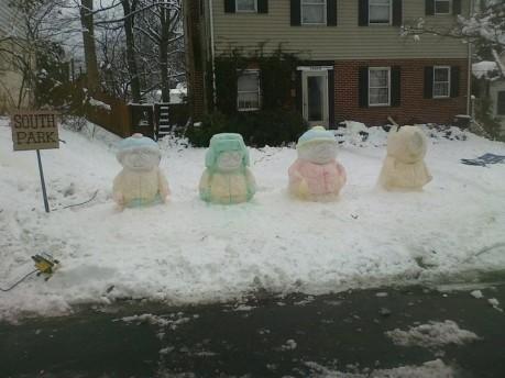 South Park Snowmen