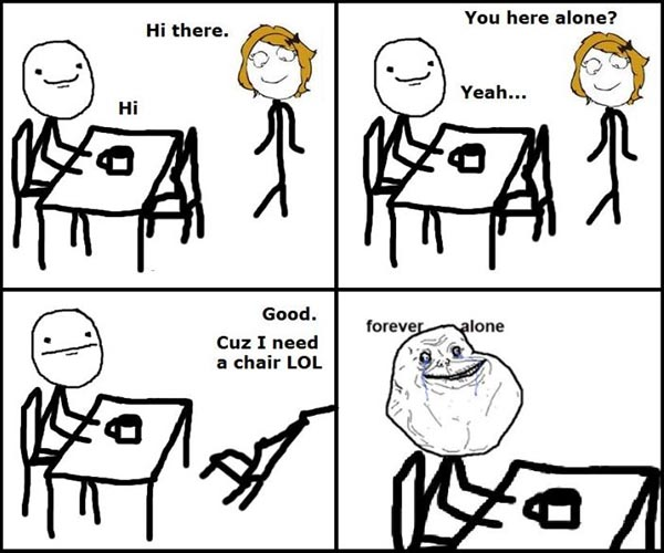 Forever Alone: The Original | Funny Pictures, Quotes, Pics ...