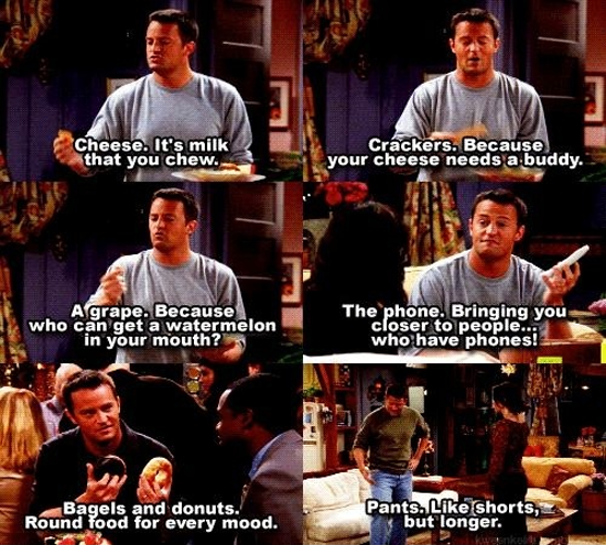 analysis of tv show friends This clip is from the nbc comedy, friends and provides analysis for social exchange theory.