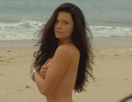Danica Patrick White Bikini