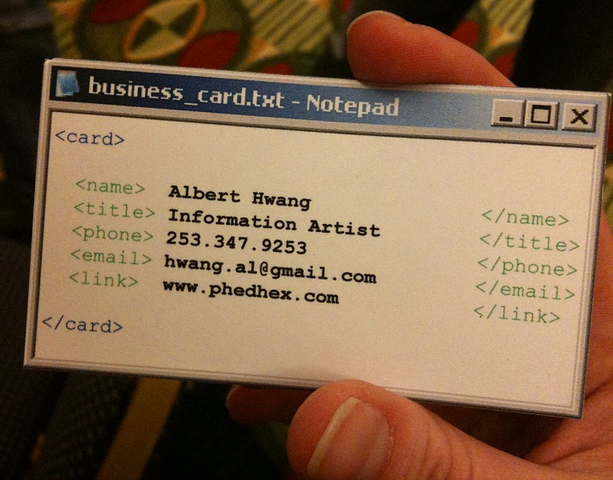 Notepad business card funny pictures quotes pics photos images source flickr reheart Image collections