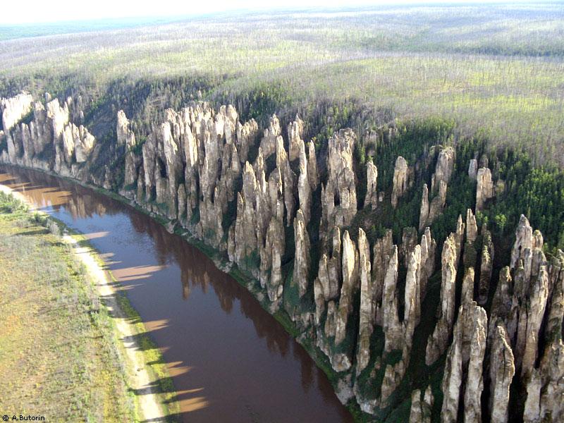 Сказочный лес на реке Лена.