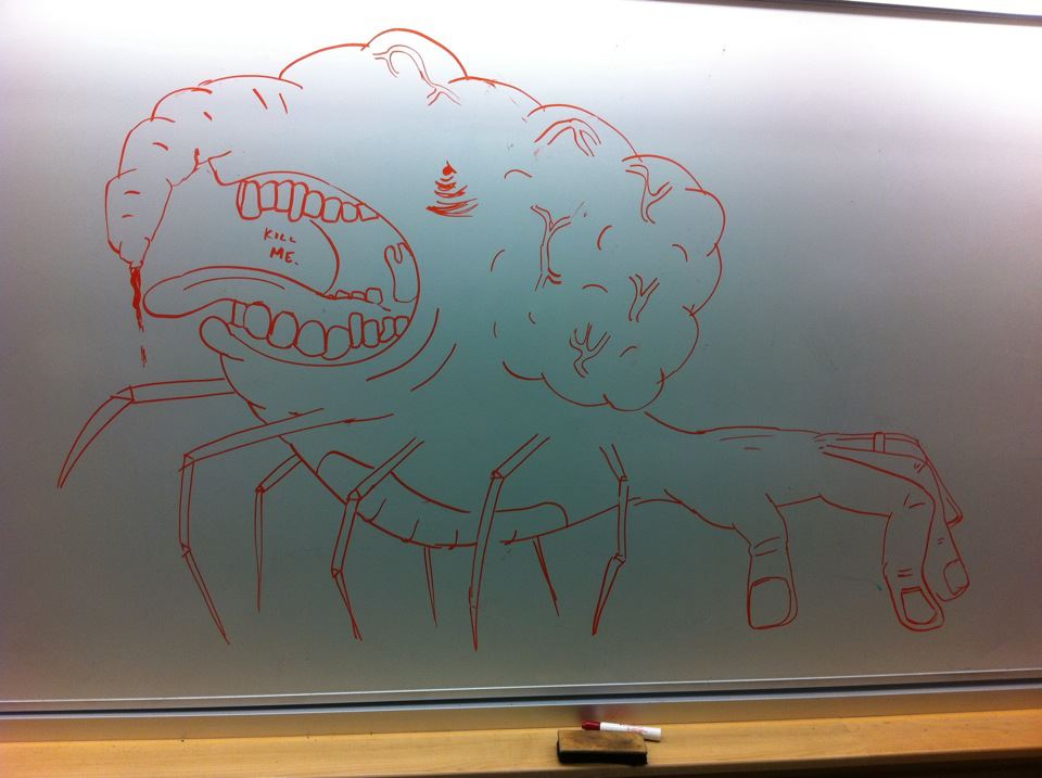 I Like To Sneak Into Class After Hours And Draw Things On
